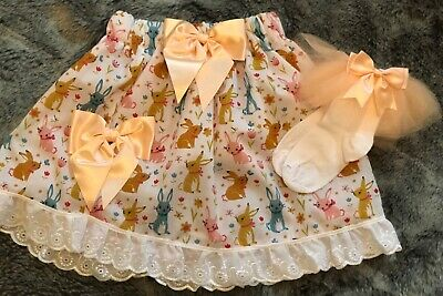 Handmade Girls Easter Outfit Age 6-7 Years