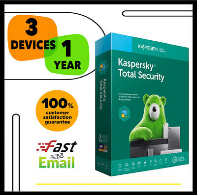 Kaspersky Total Security Antivirus 2020 - 3 PC Device 1 YEAR - GLOBAL LICENSE