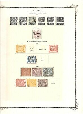 Egypt Vintage Mint And Used Collection On 32 Scott Album Pages