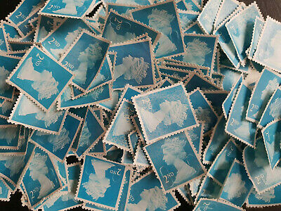 Royal Mail x100  UNFRANKED   2nd class security stamps Off paper No Gum