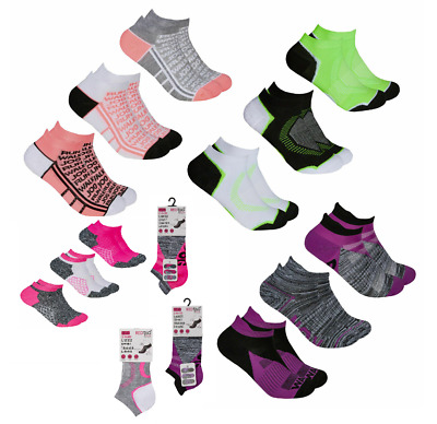 Women's Ladies Ankle Socks Liners Sports Running Trainer Gym 3/6 Pairs Size 4-8