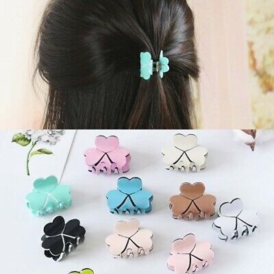 Women Fashion Acrylic Mini Hairpins Colorful Clamp Hair Claw Clips Barrettes w