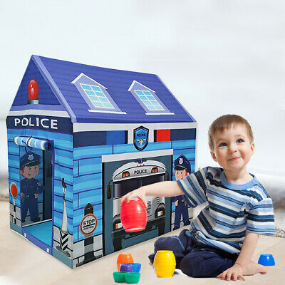 Police Station Foldable Kids Play Tent–Children Playhouse Indoor/Outdoor Toy