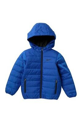 Nike Baby Toddler Boys Winter Jacket Royal Blue Hoodie Synthetic Fill 4 5 6 7