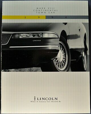 1994 Lincoln Mark VIII Large Sales Brochure w//Exterior Paint Chips