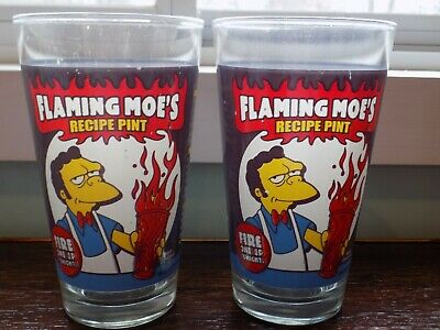 NEW UNUSED The Simpsons Barney w// Beer Drink Recipe Illustrated Clear ShotGlass