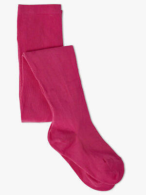 TODDLER GIRLS AGE 1-2 YRS (86cm-92cm) THICK WARM COTTON RICH TIGHTS CERISE NEW