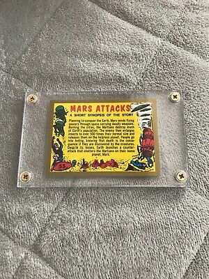 2012 Mars Attacks Topps Heritage Gold Card Checklist #55 50 Produced Super Rare*