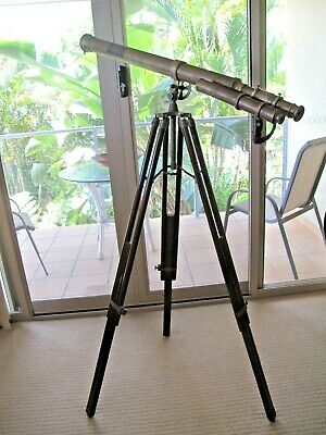 Antique Brass Marine Telescope With Adjustable Stand W. Ottway & Co, 1915