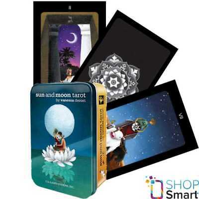 Sun And Moon In A Tin Tarot Deck Cards V. Decort Esoteric New Us Games Systems