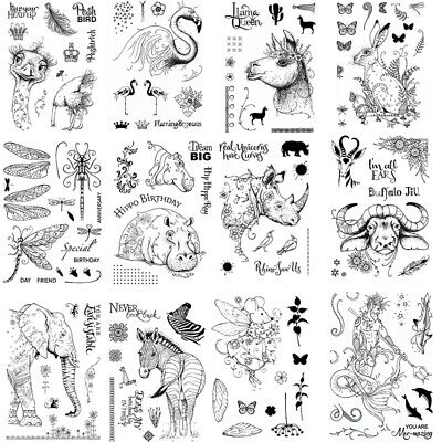 Animals Kid Transparent Clear Stamps /Seal for DIY Scrapbooking Paper Card Craft