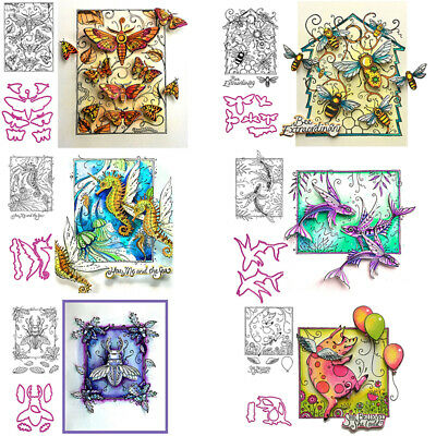Animals Clear stamps and coordinating dies for DIY Scrapbooking Paper Card Craft