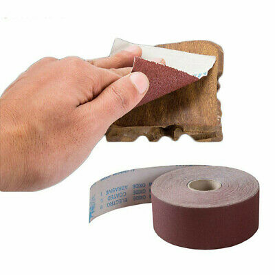 "10meter 80-1000 Grit Emery Cloth Roll Polishing Sandpaper 4"" & 4.5"" Wide"