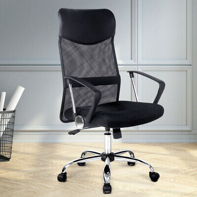 BLACK Nash Office Computer Desk Chair Mesh Executive High Back PU Leather NEW