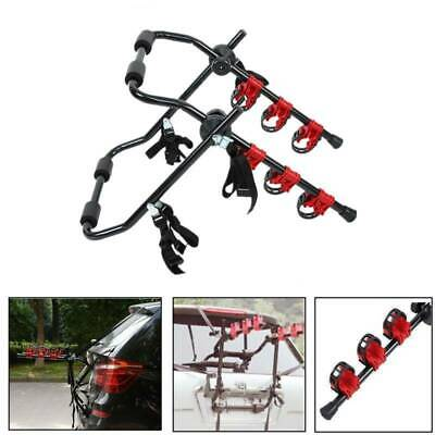 Universal 3 Bicycle Bike Car Cycle Carrier Rack Fitting Saloon Hatchback Estate