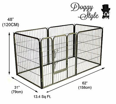 Extra Large 6 Panel Heavy Duty Puppy Play Pen Whelping Dog Cage Fence Ds-Hd03Xl