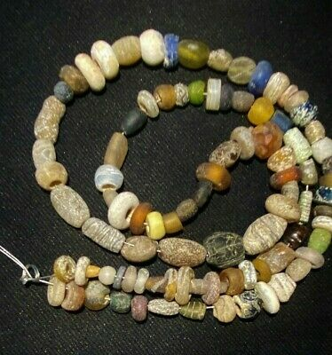 A beautiful ancient 2000 year old Roman glass beads