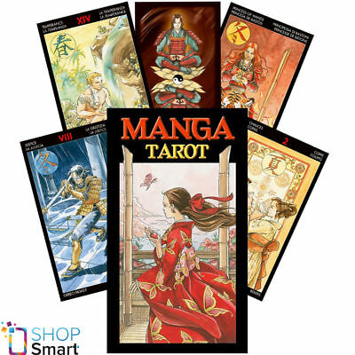 Manga Tarot Deck Cards Lazzarini Esoteric Fortune Telling Lo Scarabeo New