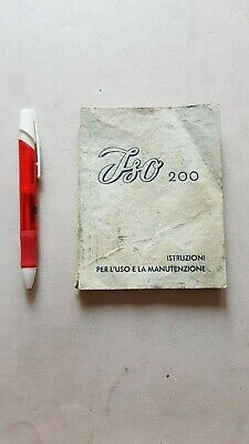 ISO 200 manuale uso originale moto owner's manual