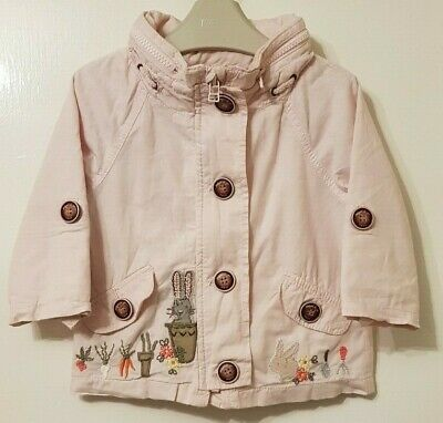 Girls Age 9-12 Months - Next - Jacket With Pack Away Hood.