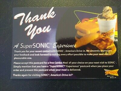 SONIC Combo Meal Voucher  FREE SHIPPING (No Expiration)