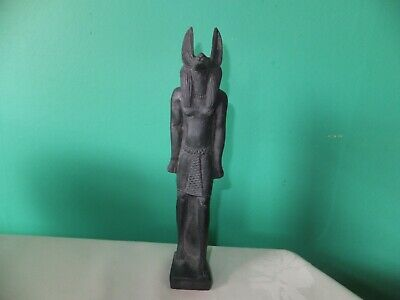 Beautiful Statuette Of The Ancient Egyptian Jackal Headed God Anubis (Repro).