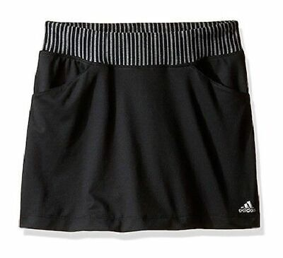 ADIDAS Junior Girls Black Sports Skort UPF 50+ 13-14 Years BNWT