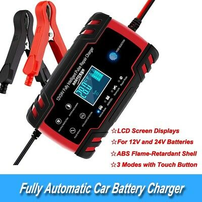 12V 8A/24V 4A Fully Automatic Car Battery Charger Suit for WET Lead Acid Battery