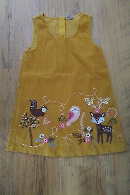 *TU / SAINSBURYS* Mustard / Yellow Cord Pinafore Dress, 5-6 years Girls