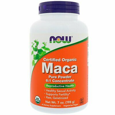 Certified Organic Maca, Pure Powder, 7 oz (198 g) - Now Foods