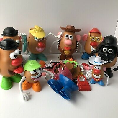Playskool Mr Potato Head Joblot Bundle Toy Story 7x Heads + 100 Accessories