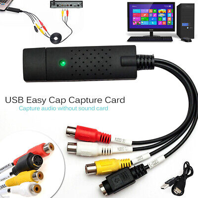 USB 2.0 VHS to DVD VCR Audio Video Converter Capture Card Adapter For PC Laptop