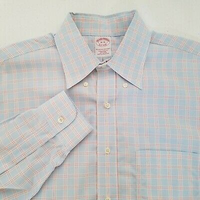 Brooks Brothers 1818 Mens Traditional Fit Button Front Dress Shirt 16.5-35 T323
