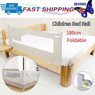 180cm Foldable Safety Cot/Bed Rail Guard Protection for Baby Infant Toddler AU