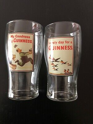 Guinness Beer Toucan And Lion Pint Glasses (Set Of 2)