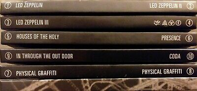 (NO Zeppelin IV) LED ZEPPELIN Complete Studio Recordings 9 CD LOT + 66 PAGE BOOK