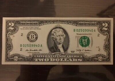 $2 American Note 2009