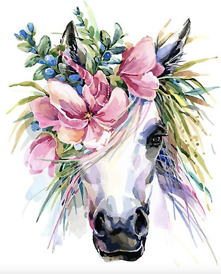 Horse Paint By Number Kits Oil Painting Canvas DIY Craft Home Decor Unicorn Gift