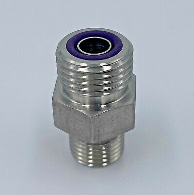 6 F5Olo-Ss H2E Parker #6 Male O-Ring Face Seal X #6 Male Sae Fitting - Straight