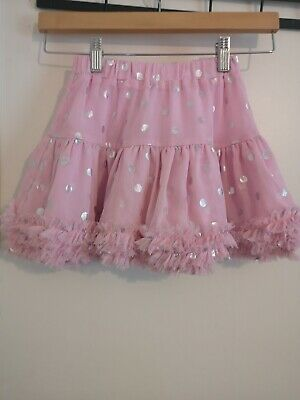 Joules Girls Pink Spots  Skirt, Age5-6 Excellent Condition G1