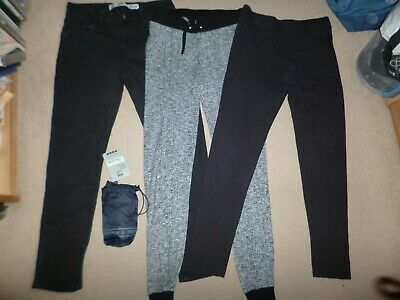 4x girl's black Denim Co jeans, New Look sweatpants & leggings - fits 11-12 USED