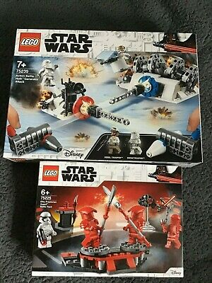 Lego Star Wars Bundle ~ 75225,75239 .. Hoth Attack , Battle Pack New