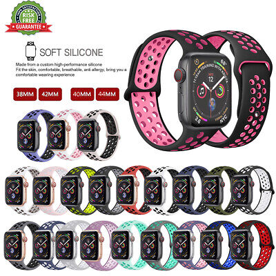 For Apple Watch Series 5 4 3 2 1 Silicone Sport iWatch Band Strap 40/44/38/42/mm