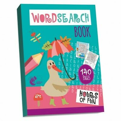 A4 WORDSEARCH 140 Page PUZZLE ACTIVITY BOOK KIDS BORED CHILDREN HOME OFF SCHOOL