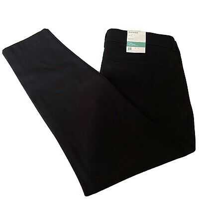 Old Navy Black Pixie Pants Size 16 Mid Rise Ankle Length Stretch Trousers  NWT j