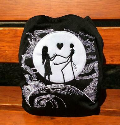 Diaper Embroidery Cloth Diaper Nappy Jack and Sally Skeleton