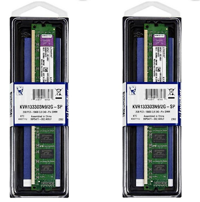 Kingston 4GB 2X2GB KVR1333D3S8N9/2G -Memoria RAM da 2X2 GB, 1333 MHz PC DESCTOP
