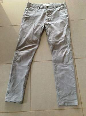 Mens/Boys Next Grey Stretch Skinny Chino Jeans Trousers Size 32R VGC