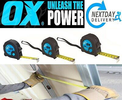Ox Tools Trade Tape Measure  3M  5M  8M Metric / Imperial Quick Lock Button  A33