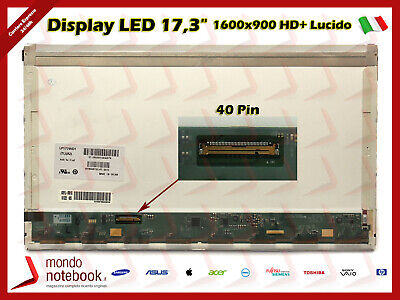 """Display Pannello LED 17,3"""" per Notebook HP Pavilion G7 (40 pin)"""